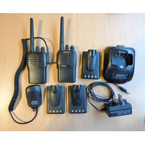 Handies Kirisun Pt4200 Usados 2 Radios 3 Baterias Cargador
