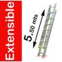 Escalera Extensible De Aluminio 5.50 Mts Uso Profesional