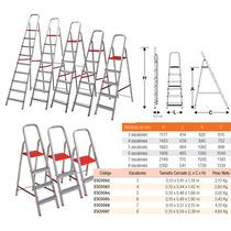 Escalera Domestica Aluminio 6 Escalones Esc0065