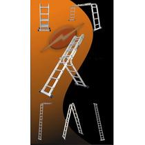 Escalera De Aluminio Articulada Plegable Multiproposito 4x4
