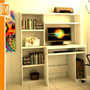 Escritorio Mesa P/computadora + Biblioteca+ Alzada Impresora