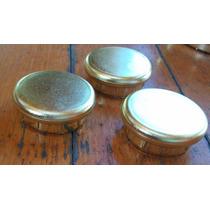 3 Tapas Plastico Simil Bronce Muebles 4x1cm-pompeya/v Crespo