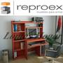 Escritorio Mesa Para Pc Reproex R-11813 Alzada Y Biblioteca