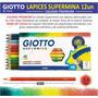 Caja De 12 Lápices Giotto Supermina - Mina Gruesa 3,8 Italia