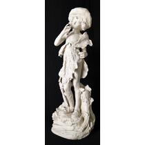 Figura Escultura Porcelana De Biscuit Austriaca Amphera