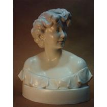 Antiguo Busto De Porcelana De Berlin C. 1840