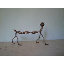 Escultura Perrito En Metal Reciclado