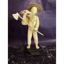 Antigua Figura Oriental China Japon Noble Simil Marfil