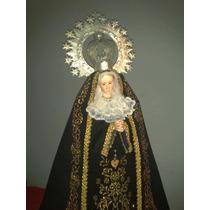 Imagen Religiosa Virgen Maria, Ojos De Vidrio, Arte Aborigen