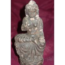 Antigua Escultura De Arcilla Diosa Hindu