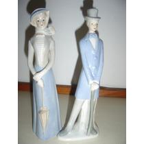 Estatuillas Porcelana Pareja Antigua (imitacion Lladró)