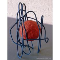 El Atomo Escultura En Alambre Y Papel 13x8x8 Cm