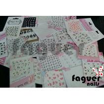Plancha Stickers 3d P/ Uñas Deco - Nail Art. Varios Modelos!