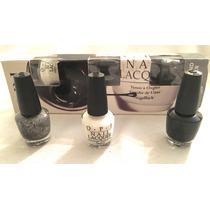 Opi Set Black& White Nail Lacquer. Esmaltes Uñas