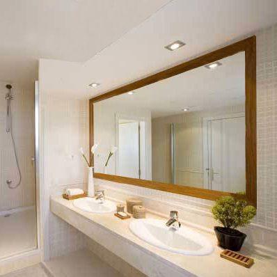 Espejos de ba o para marcos en pinterest espejos de ba o for Marcos plateados para espejos