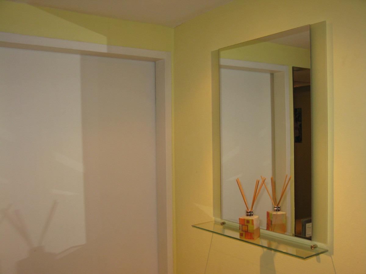 Estantes De Cristal Para Baño:Espejo + Estante O Repisa De Vidrio Para Colgar Ideal Baños – $ 399