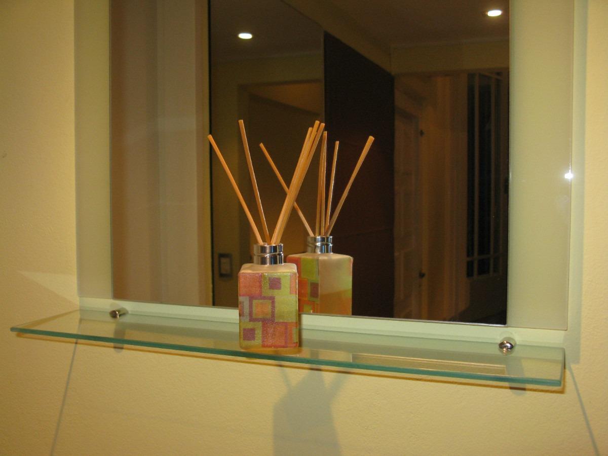 Estantes Para Baño Vidrio:Espejo + Estante O Repisa De Vidrio Para Colgar Ideal Baños – $ 399