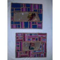 Espejos Por Mayor De 20 Cm. X 25 Cm. Con Marco De Aguayo.