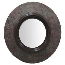 Espejo Redondo Con Marco Rustico, Excelente!