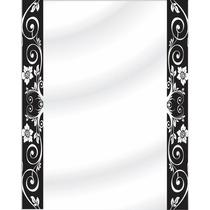 Espejo Para Baño Sin Marco Con Detalle Vinilo Decorativo