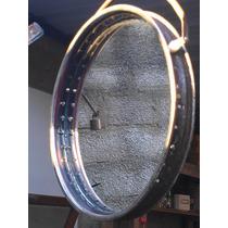 Original Espejo Redondo Rustico Reciclado
