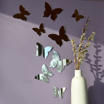 Kit Espejo Acrílicos Mariposas Cuarto Niñas Regalo Único