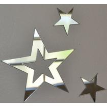 Kit 50 Estrellas Espejo Acrilico