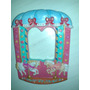 Carrousel Pintado A Mano Cuarto Nena Ideal Espejo