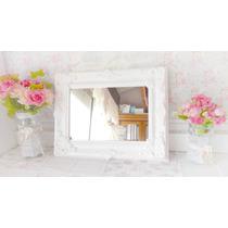 Espejo Marco Tipo Frances 8 Molduras Blanco Shabby Chic