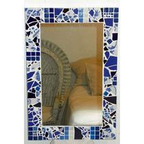 Espejos artesanales 30x30 marco azulejos rotos no for Azulejos rotos decoracion