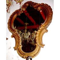 Historical- Gran Espejo Antiguo Luis Xv Rocaille Doré-cuotas