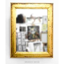 Espejo Con Marco Dorado Antiguo 40,5x50,5