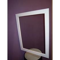Espejo Con Marco De Madera P/decoración O Baño 1,00x0,60