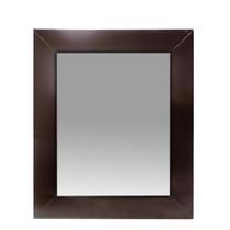 Espejo Marco 50x60 Detalles Acero Wengue Baño Living Decorac