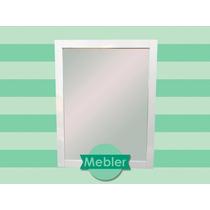 Espejo Laqueado Blanco - 57cm X 72cm - Decoración