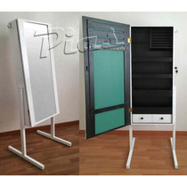 Espejo Joyero Organizador - Pie De Metal! Diseño Exclusivo!