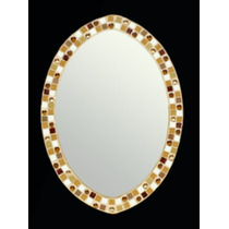 Espejo Oval Venecitas 50 X 70 Cm., Calidad Superior