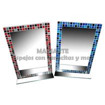 Espejo Con Venecitas 60x40 Cm - Ideal Para Tu Baño