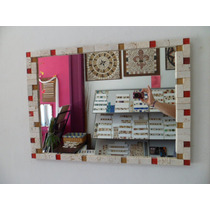 Espejo Marco Venecitas Artesanal Cualquier Color!!o 70x50