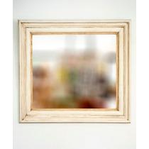 Espejo Con Marco Blanco Patinado Antiguo 90x100