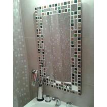 Espejo Con Venecitas. 40x50. Ideal Baño (perchero De Regalo)
