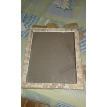 Espejo Venecitas De Piedra Y Marmol Travertino