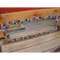 Espejo Con Venecitas Multicolor (apaisado)