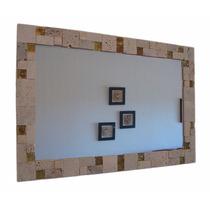 Espejo De Mármol Travertino Y Venecitas 50x70 Envío Gratis
