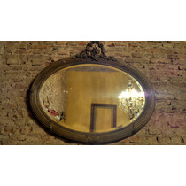 Espectacular Antiguo Espejo Estilo Luis Xvi Oval Original