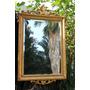 Antiguo E Imponente Espejo Frances Dorado 95 X 65