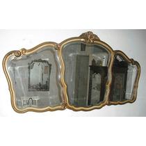Espejo Triptico Estilo Francés Biselado