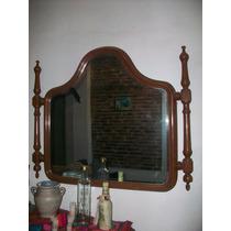 Espejo De Madera Torneada