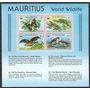 1978 Wwf Murcielago- Aves- Lagartija- Mariposas- Mauricio
