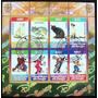 Congo Gatos Disney, Bloque 8 Sellos 2010 Usado L6693
